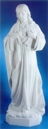 Sacred Heart Of Jesus Life-Size Bonded Marble Statue
