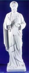 Saint Peter Lifesize Religious Marble Sculpture