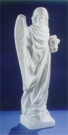 Angel With Flowers Bonded Marble Statue 42