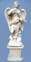 Saint Angelo's Angel Rod With Base Marble Sculpture