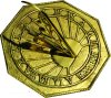 Classic Octagonal Sundial Latin for Time Flies