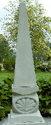 Obelisk With Carved Shell Base