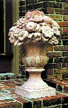 Salvaged Large Finial Urn With Fruit