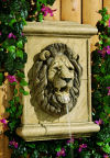 Lion Wall Plaque Piped Water Feature