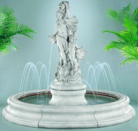 Venus With Dolphins Fountain Pooled & Spray Ring