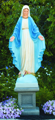 Blessed Mother Mary Life-size Statue With Pedestal