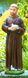 Saint Francis With Birds Painted Garden Statue 30