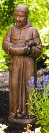 Saint Francis With Shell Sculpture 30