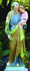 Saint Joseph & Child Life-Size Statue 54.5
