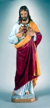 Monumental Sacred Heart Of Jesus Life-size Statue