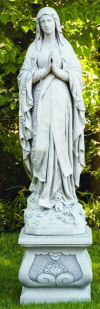 Our Lady Of The Lourdes Statue With Pedestal