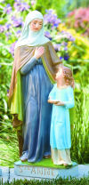 Saint Anne & Child Hand- Painted Sculpture 24