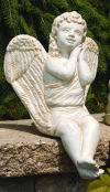 Sitting Angel Looking Towards the Heavens Garden Statue