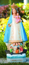 Our Lady Of Charity El Cobre Garden Statue Painted