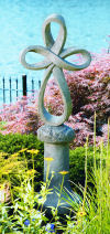 Eternity Cross Statue And Pedestal