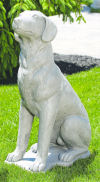 Sitting Hound Dog Statue
