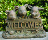 Pigs Welcome Garden Sculpture