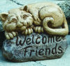 Welcome Friends Felix Cat Sculpture
