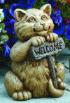 Welcome Willy Cat Sculpture
