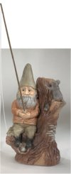 Gnome Fishing Garden Sculpture