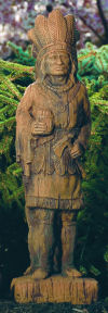 Cigar Store Indian Garden Statue Large
