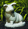 Sitting Garden Pig Sculpture