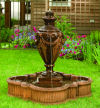 Tivoli Urn on Quatrefoil Pool Garden Fountain