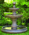 Opal Two Tier Garden Fountain With Large Pool