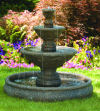 Three Tier Harvest Pool Outdoor Fountain