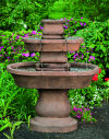 Two Tier Oval Assis Garden Fountain