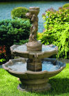 Classic Two Tier Girl Holding Urn Fountain