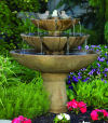 Tranquility Spill Fountain With Birds Three Tiered