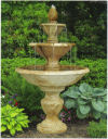 Three Tier Cortona Fountain with Pineapple