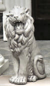 Roaring Sitting Lion Left Statue