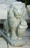 Lion With Shield Left Statue 19