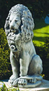 Grande Sitting Lion Garden Sculpture 44.5