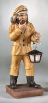 Sea Captain With Parrot Garden Lantern Statue