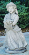 Caroler Girl Holiday Sculpture