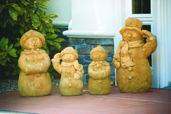 Snowman Family Garden Statues Set Of 4
