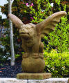 Gargoyle On Globe Statue Cast Stone 27