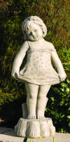 Bashful Girl Large Garden Statue