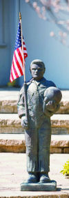 Armed Forces Pilot Sculpture with American Flag