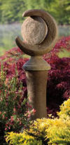 A Garden Of Night & Day On Pedestal Sculpture