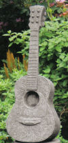 Guitar Plumbed Sculpture Water Feature