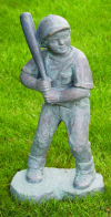 Baseball Batter Boy Large Garden Sculpture