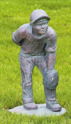 Baseball Pitcher Boy Large Garden Statue