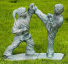 Martial Arts Girl & Boy Sculptures Large