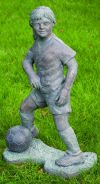 Soccer Player Girl Large Scale Garden Sculpture