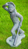 Softball Batter Girl Sculpture 30.5