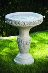 One Piece Rose Bird Bath 22